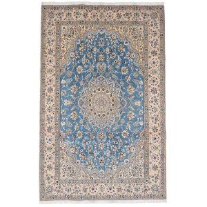 Håndknyttet. Opphav: Persia / Iran Nain 9La Teppe 201X311 Lys Grå/Hvit/Creme (Ull/Silke, Persia/Iran)