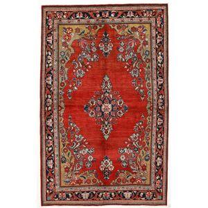 Håndknyttet. Opphav: Persia / Iran Persisk Sarough Teppe 144X230 Mørk Rød/Rust (Ull, Persia/Iran)