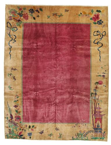 RugVista Kina Antikke: Art Deco 1920 Teppe 275X360 Lysbrun/Rød Stort (Ull, Kina)