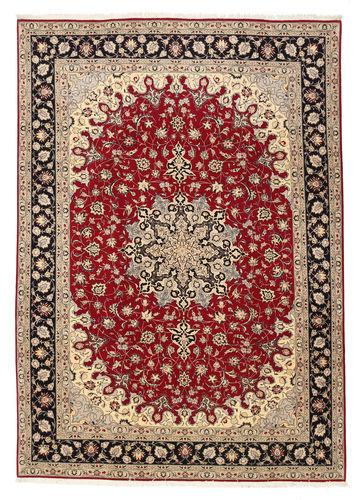 RugVista 201X299 Persisk Teppe Håndknyttet Orientalsk Ull/Silke Lysbrun/Mørk Rød