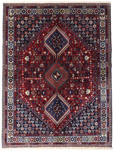 Håndknyttet. Opphav: Persia / Iran 150X200 Orientalsk Yalameh Teppe Mørk Lilla/Mørk Rød (Ull, Persia/Iran)