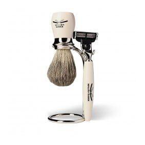 Benjamin Barber Duke MP 3-delers Barbersett Ivory (Gillette Mach3)