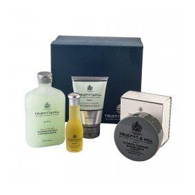 Truefitt & Hill Ultimate Comfort Gift Set: Cream, Balm, Oil & Scrub
