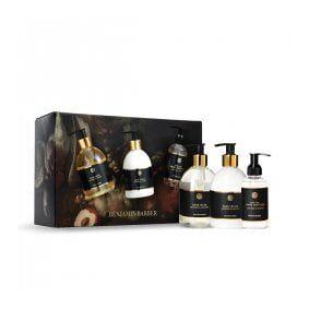 Benjamin Barber Gift Set Saffron & Leather Hand Trio