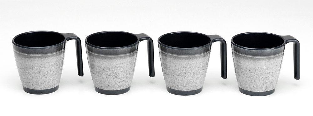 Servise Melaminservise granite, 4 kopper
