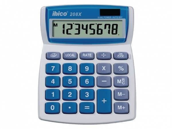 Kalkulator Grå/blå