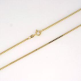 Veneziansk halskjede 1,3mm, gult gull 14k (585) 45cm