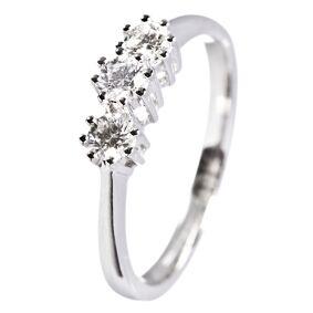 Diamantring i hvitt gull 14k med 0,45 carat tw/si diamanter.