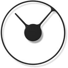 Stelton Veggklokke, Time Ur Soft svart