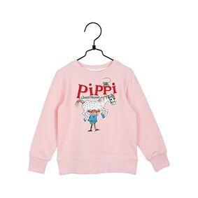 Pippi Långstrump Pippi Langstrømpe Sterkest Collegetrøye Rosa 98 cl