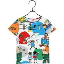Pippi Långstrump Pippi Langstrømpe I Villekulla T-Shirt Hvit 122 cl