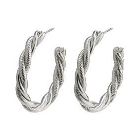 Pilgrim 26202-6063 Baya Twisted Silver Earrings 1 set