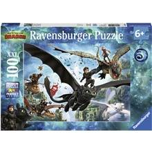 Ravensburger Puslespill 100 Deler XXL Dragetreneren