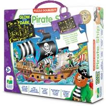 The Learning Journey International Puzzle Doubles Pirate Ship Glow in The Dark