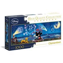 Clementoni Puslespill 1000 Deler Panorama Mickey & Minnie