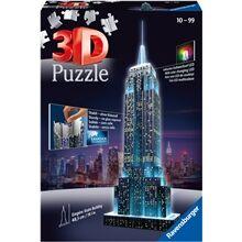 Ravensburger Puslespillbyggning 3D - Empire State Building LED