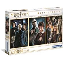 Clementoni Puslespill 3 x 1000 Deler Harry Potter