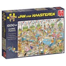Jan Van Haasteren Puslespill 1500 Deler - Clash of the Bakers