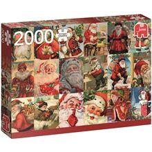 Jumbo Puslespill 2000 Deler Vintage Santa