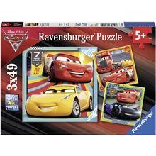 Ravensburger Puslespill 3 x 49 Deler Cars