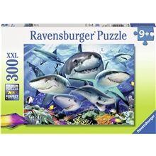 Ravensburger Puslespill 300 Deler XXL Smiling Sharks