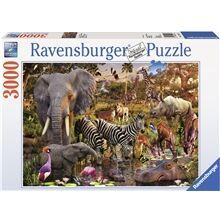 Ravensburger Puslespill 3000 Biter Afrikanske Dyr