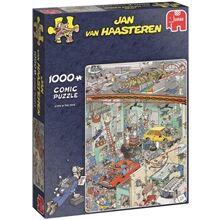 Jan Van Haasteren Puslespill 1000 Biter - Cars in the Make
