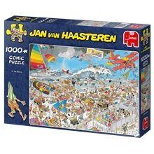 Jan Van Haasteren Puslespill 1000 Biter - At the Beach