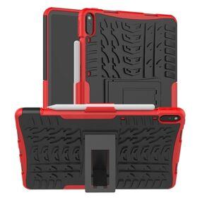 24hshop Beskyttelsedeksel med stativ & dekkmønster Huawei Matepad Pro 10.8, Svart+Rød