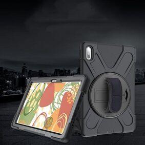 24hshop Beskyttelsedeksel med stativ til Huawei MatePad 10.4 Svart