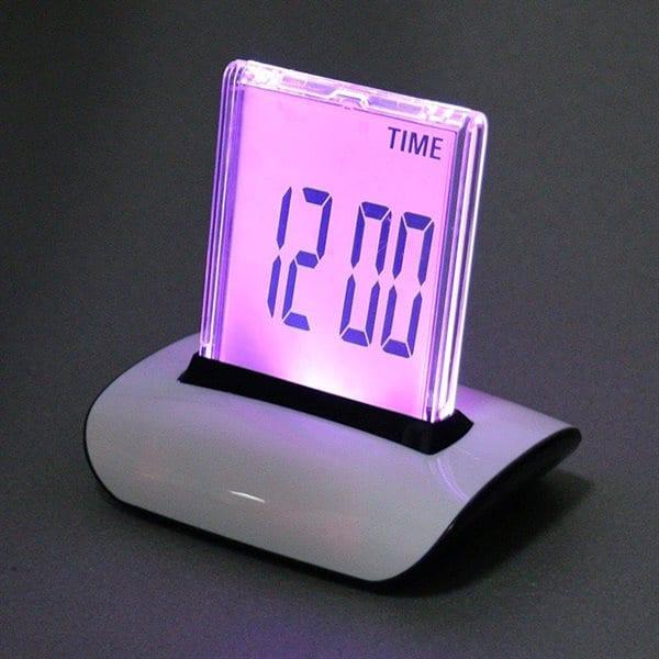 Digital Vekkerklokke - 7 fargers LCD