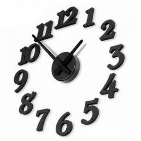 24hshop Veggklokke med store sifre