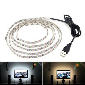 24hshop Usb-drevet TV-belysning 5 meter - Varm hvit