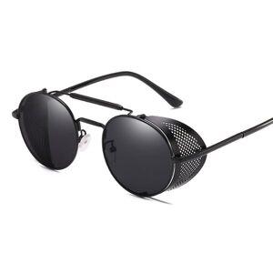 24hshop Solbriller Retro med UV-beskyttelse - Svart/Grå