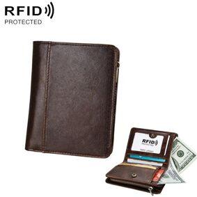 24hshop RFID Lærlommebok Brun