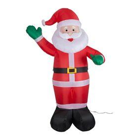 24hshop Xmas Oppblåsbar Julenissse 180cm