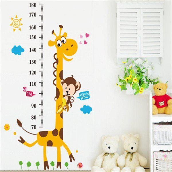 Barn veggdekorasjon / wall stickers barn - Målepinne Giraff