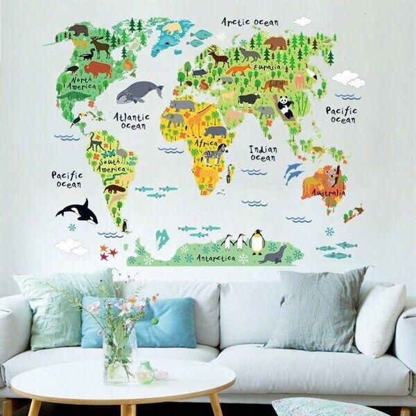 Barn veggdekorasjon / wall stickers barn - Verdenskart