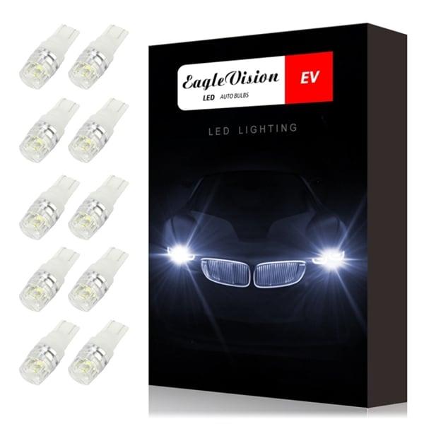24hshop 10-Pack Lyspærer LED t10 2Watt 100LM Canbus decoder - Parkering / posisjonslys