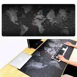 24hshop Stor musmatte med verdenskart - 30x60cm