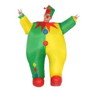 24hshop Oppblåsbar Clown Maskeradedrakt