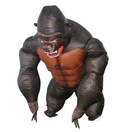 24hshop Oppblåsbar Gorilla Maske...