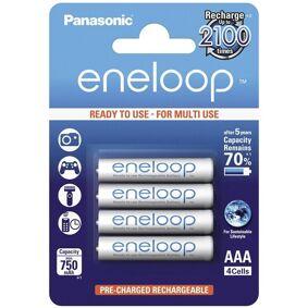 24hshop Panasonic Eneloop BK-4MCCE Oppladbare AAA-Batterier - 4-Pk