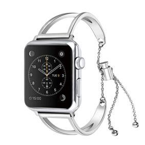 24hshop Armbånd Metall V til Apple Watch 38mm -Sølv