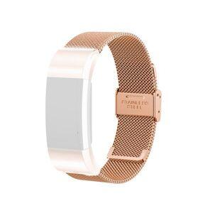 24hshop Armbånd Meshlenke Fitbit Charge 2 RoseGold
