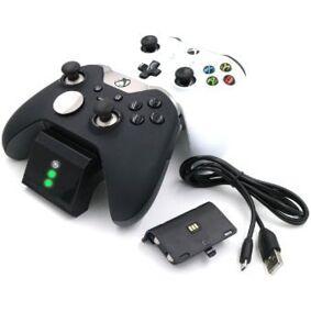 24hshop Ladestasjon Xbox One S håndkontroll + 2stk batterier