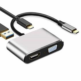 24hshop Multiport Adapter - 4i1 VGA/HDMI/USB 3.0/ USB-C