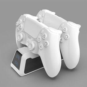 24hshop Ladestasjon med hurtiglading til PS5 håndkontroll