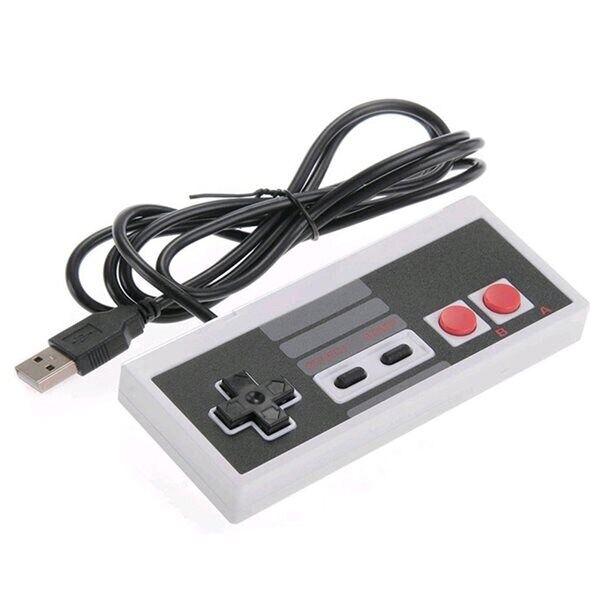 24hshop Klassisk NES USB Mini Controller - PC