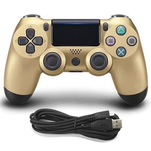 24hshop Gamepad i gull til Sony playstation4 / PS4 - Kabel tilkoblet